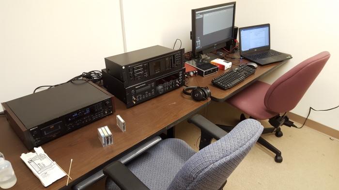 UNC SILS Digitization station